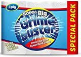 Soooo Big Grime Buster Multi Purpose Household Paper Towel Tissue 3 pk (12 Rolls) Extra Large Sheets