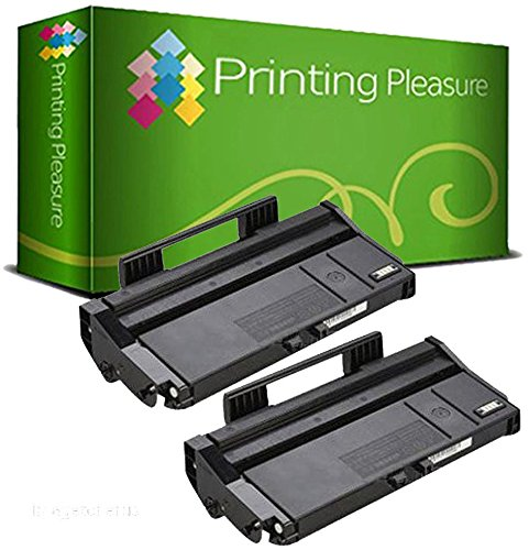 Twin-Pack 407166 Black Compatible Toner Cartridges for use in Ricoh SP 100,  SP 100e, SP 100SF, SP 100SFe, SP 100SU, SP 100SUe, SP 110, SP 112, SP
