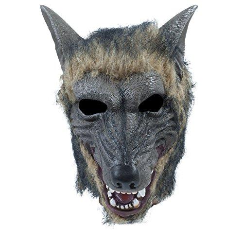 (Bristol Novelty BM539 Wolf Maske, Unisex– Erwachsene braun Einheitsgröße)