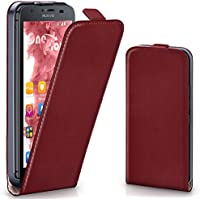 Huawei G510 Hülle Dunkel-Rot [OneFlow 360° Klapp-Hülle] Etui thin Handytasche Dünn Handyhülle für Huawei Ascend G510 Case Flip Cover Schutzhülle Kunst-Leder Tasche