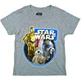 Boys Official Star Wars Force Awakens R2D2 C3PO BB8 Droid T-Shirt sizes from 3 to 11 Years