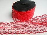 10m Spitze Geschenkband Spitzenband 45mm breit : Rot