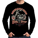 Velocitee Speed Shop Premium Mens Long Sleeve T Shirt Bobber Garage Chopper Biker W13646