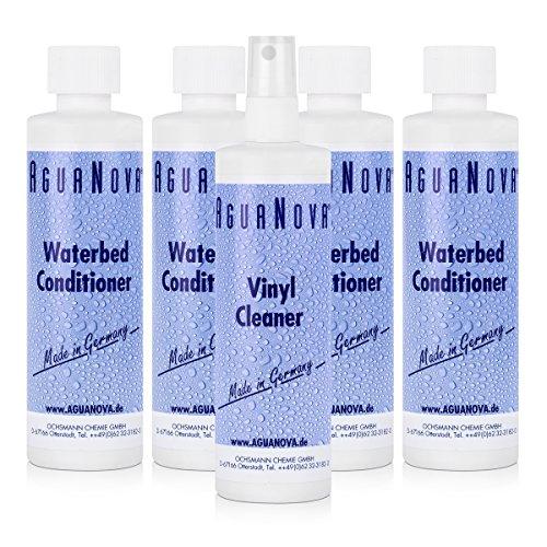 4x250 ml Wasserbett Konditionierer/Conditioner + 1 Reiniger - Weichmacher Conditioner