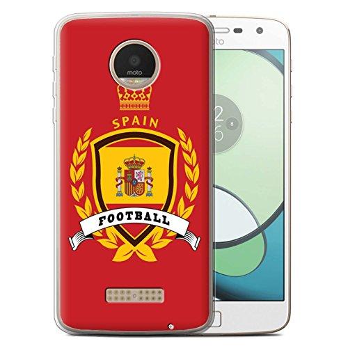 Stuff4® Carcasa/Funda TPU/Gel para el Motorola Moto Z Play/Droid / Serie: Emblema de fútbol - España Español