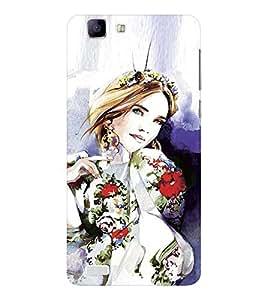 EPICCASE Supermodel with patterned clothes Mobile Back Case Cover For Vivo X 3s (Designer Case)