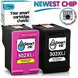 Smart Ink Kompatibel Druckerpatronen Tintenpatronen für HP 302XL 302 XL 2 Multipack Schwarz & Farbige Patrone hoher Kapazität für Deskjet 1110 1112 3630 3632 Envy 4510 4516 4522 4525 Officejet 4650