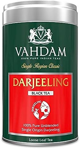 Vahdam, Darjeeling Tea, Tin Caddy, 100% Pure, Unblended, Single Origin Darjeeling Black Tea, Loose Leaf Tea - Grown, Packaged & Shipped Direct from Source in India - Perfect Tea Gift Set - 100gm (Pack of
