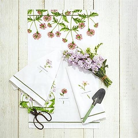 Washing Up Dish Tea Towel In A Ceramic Flower Pot Gardener's Gift ~ Design Vary