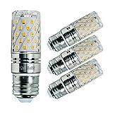 Sagel E27 Lampadine di Mais a LED 12W, Lampadine a Incandescenza da 100W Equivalenti, 3000K Bianco Caldo Lampadine Candelabri E27, Non Dimmerabili, 1200Lm, Vite di Edison Lampadine al Mais, 4-Pacco