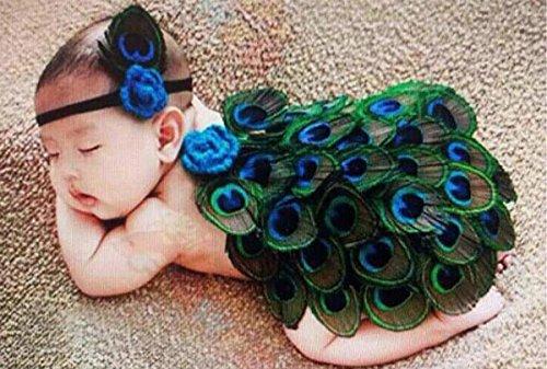 Imagen de happy cherry  trajes falda media de fotografía disfraces apoyo de fotos para bebés 3  6 meses niñas conjunto de 2 baby newborn photography props  pavo real alternativa