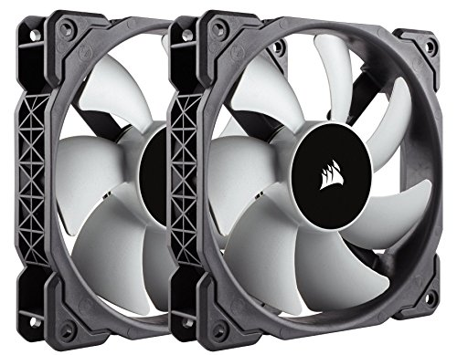 Corsair ML120 - Pack de 2 ventiladores (120 mm, levitación magnética, silencioso), negro (CO-9050039-WW)