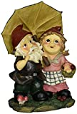 Design Toscano Regentag, Zwerge unter dem Regenschirm, Gartenstatue