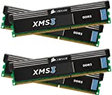 Corsair CMX16GX3M4A1600C9 XMS3 16GB (4x4GB) DDR3 1600 Mhz CL9 Performance Desktop Memory