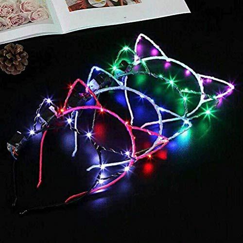 10 diademas LED para gato con luz LED para el pelo