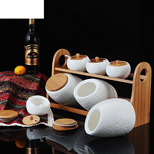 insieme di vaso di ceramica delle spezie/Scatola delle spezie/Combo kit/spice vasetti/sealed jar in cucina/scatola metallica]/condimento bottiglie-A