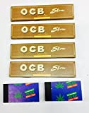 SCORIA® OCB Brown King Size Rolling Paper Pack Of 4 (128 leaves) + 2 Rouch Book Pad