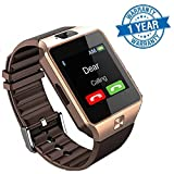 #2: Captcha Touch Screen Bluetooth Smart Watch With Sim Card Slot Watch Phone Remote Camera Compatible with Oppo Neo 7 4G (Gold/Silver)