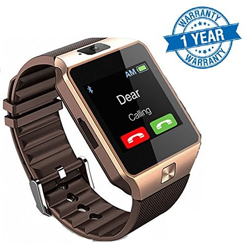 Captcha Touch Screen Bluetooth Smart Watch With Sim Card Slot Watch Phone Remote Camera Compatible with Oppo Neo 7 4G (Gold/Silver)