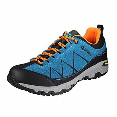 Bruetting Kansas, Chaussures de Randonnée Basses Mixte Adulte, Bleu (Blau/Schwarz/Orange Blau/Schwarz/Orange), 37 EU