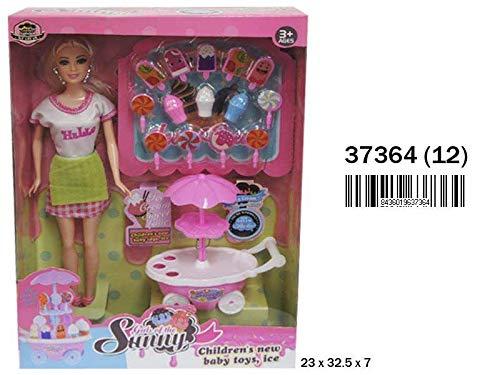 RAMA TRITTON- MUÑECA con Carrito DE Helados Y Accesorios 23X32,5X7 CM, (37364)