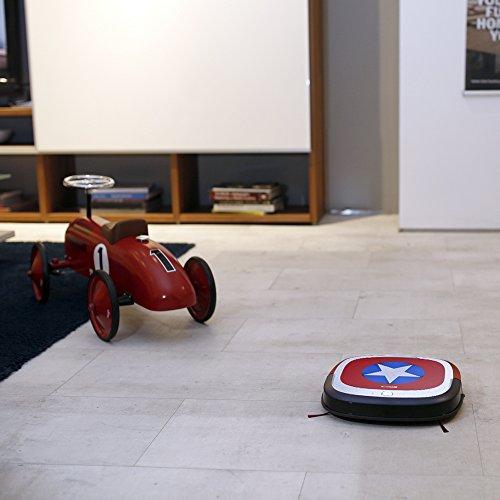 Ecovacs Robotics Deebot Slim Marvel Edition – Ultra-flacher Staubsaugerroboter mit Direktabsaugung (optimiert für Tierhaare) Captain America - 4