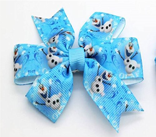 by Mandy's Bowtique Frozen Olaf the Snowman Hair Barrette Clip. UK Based Seller