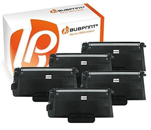 Bubprint 5 Toner kompatibel für Brother TN-3480 TN 3480 für DCP L5500DN L6600DW HL-L 5100DNT HL-L 6300 DW MFC L5700DN L5750DW L6800DWT L6900DW Schwarz -
