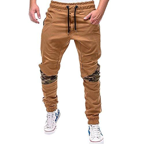 SANFASHION Herren Cargo Jeans Hosen Sporthose Casual Elastischer Bund Sweathose Jogginghose Stretch Slimfit Outdoorhose Freizeithose Sportswear Jeggings Smooth Leggings Lange Pants mit Tunnelzug
