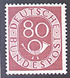 Goldhahn BRD Nr. 137 postfrisch ** geprüft 80 Pfennig Posthorn Briefmarken für Sammler