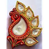 """BHARATSTALL """"PEACOCK"""" SHAPED' DIYA For Laxmi Puja. SUPERIOR QUALITY TERRACOTTA DIYA. IDEAL FOR DIWALI DÉCOR, RANGOLI, LAXMI PUJA DIYA. ONE PIECE IN DIFFERENT COLOUR COMBINATION. 100% ENVIRONMENT FRIENDLY.(MADE IN INDIA) 