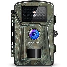 APEMAN Fotocamera Caccia 16MP Fototrappola 26PCs 940nm IR LEDs Macchine Fotografiche da Caccia Visione notturna 65ft/20m IP66