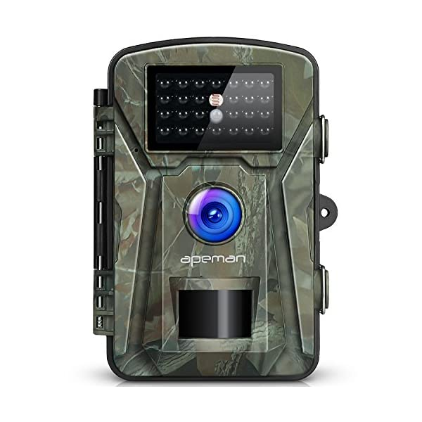 APEMAN 12MP 1080P Trail Wildlife Camera Trap with Infrared Night Vision – Camouflage 51qgsbSKvlL