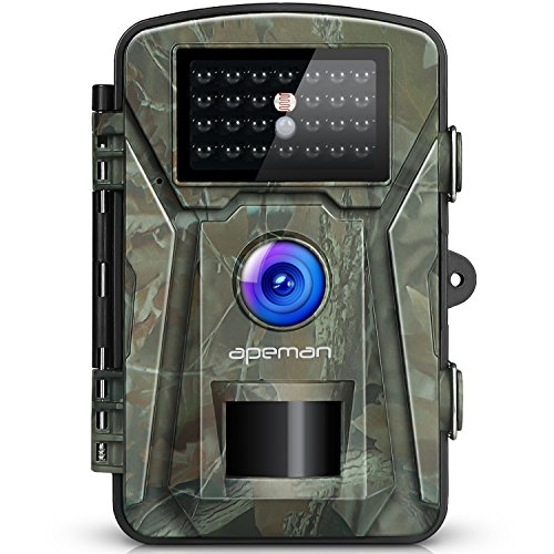 Apeman Cámara de Caza 12MP 1080P IP66 Impermeable 24 LED de IR Invisi