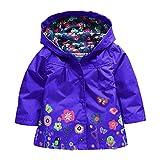 Blumen Regenjacke Winddichte Wasserdicht Mädchen Regenmantel mit Kapuze Kinder Sportliche Softshelljacke