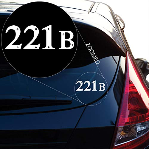 Preisvergleich Produktbild ZYFAOZHOU Sherlock Holmes 221B Baker Street Vinyl Aufkleber Aufkleber