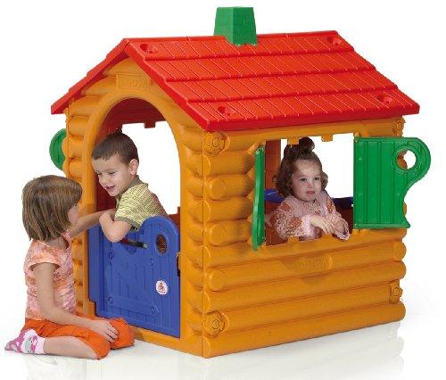 INJUSA - Casa infantil de troncos The Hut con puertas y ventanas abatibles para niños a partir de 2 años  (2032)