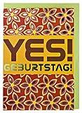 Geburtstagskarte Retro Yes Geburtstag
