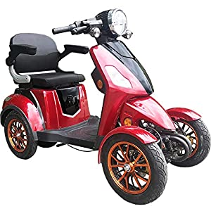 Green Power Four Wheeled Electric Mobility Scooter (RED)
