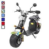 E-Flux eFlux Harley Two Elektro Scooter 1500 Watt 60 Volt 20AH mit Straßenzulassung 35 Kilometer Reichweite viele Farben (Grafit Gelb)