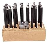 GT instrumentos Dapping Dapping punzón de metal con base de madera joyería Making Tool Set de 12pcs