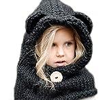 Inverno Bambino Cappelli maglia sciarpa Fox Cappelli neonate scialli Cappello autunno e inverno sciarpa a maglia protezione del bambino con un cappello