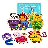 Montessori-speelgoed voor peuters 2-5-jarigen, rijgkaarten melissa en doug speelgoed voor kinderen meisje 3 4 5 6-jarige voorschoolse activiteiten cadeau peuter leren speelgoed voor meisjes jongen