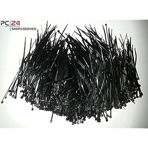 Fascette per cablaggio - 1000pz - Nero - 2,5 x