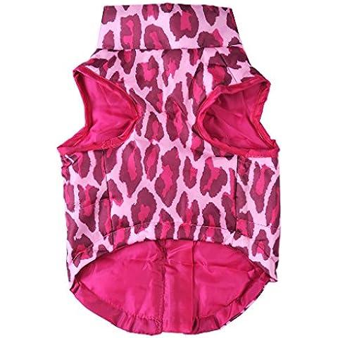 Camisa del perro chaqueta de la capa del chaleco Outwear - rosa, M