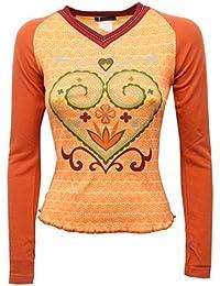 0d62232792a7 Custo C8598 Maglia Donna Slim Fit Barcelona Range Arabesque t-Shirt Woman