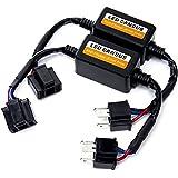 FMS H4 9003 HB2 LED Decodificador Enchufar y Usar Advertencia Canceller condensador error Load Resistor LED Canbus decodificador Anti Parpadeo (Pack de 2)