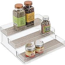 mDesign Estantería para botes de especias – práctico accesorio de cocina para organizar especias – Especiero