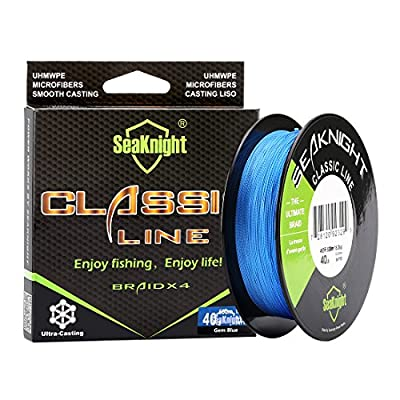 SeaKnight Classic 4 Strands Braided Fishing Line 500 m/547 yards Super Braided Line Thinner,Stronger and Smoother Fishing Line 6-80 Lbs by SeaKnight