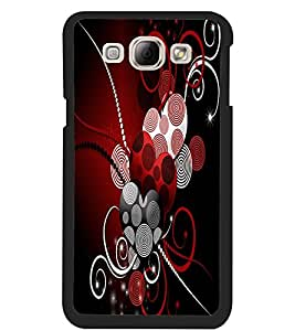 ColourCraft Hearts Pattern Design Back Case Cover for SAMSUNG GALAXY A8